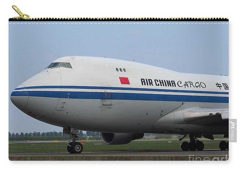 737 Carry-all Pouch featuring the photograph Air China Cargo Boeing 747 by Paul Fearn