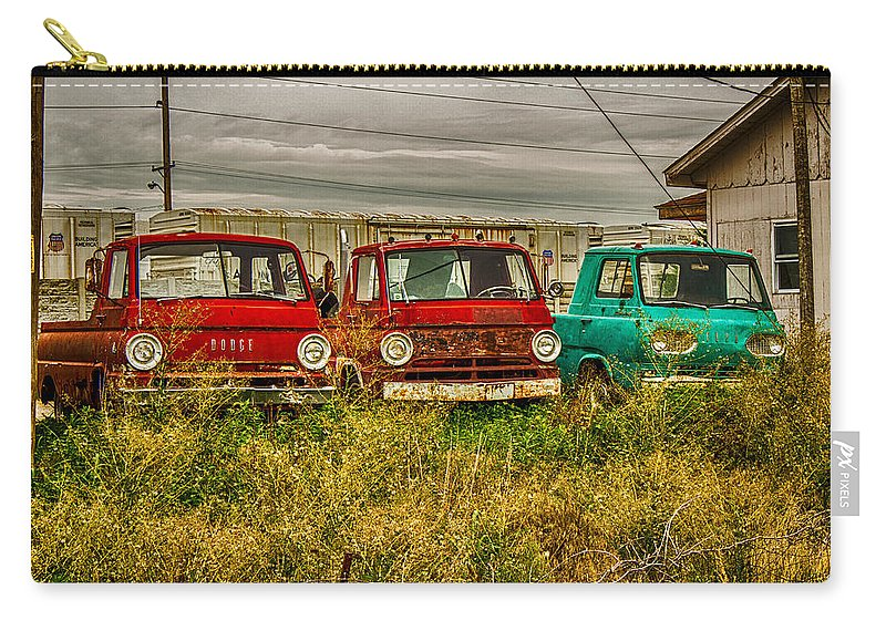Truck Carry-all Pouch featuring the photograph 3 Amigos by Ken Kobe
