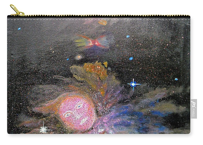 Augusta Stylianou Carry-all Pouch featuring the digital art Aphrodite In Orion's Nebula by Augusta Stylianou