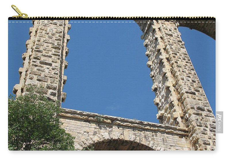 Aqueduct Carry-all Pouch featuring the photograph Aqueduct Roquefavour by Christiane Schulze Art And Photography
