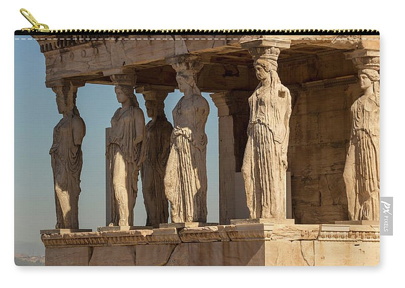 Photography Carry-all Pouch featuring the photograph Athens, Attica, Greece. Porch by Panoramic Images