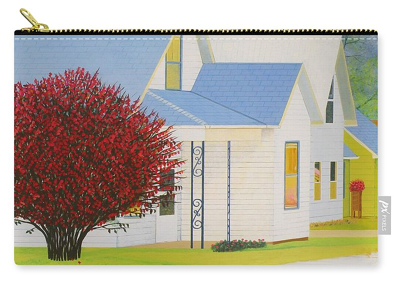 Autumn Carry-all Pouch featuring the painting Autumn In Nebraska City by Christine Belt