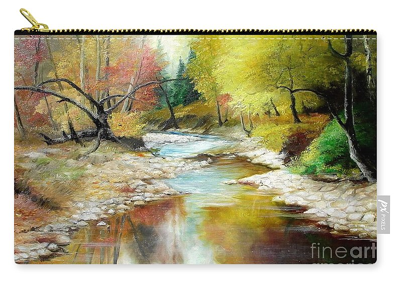Tree Carry-all Pouch featuring the painting Autumn by Sorin Apostolescu