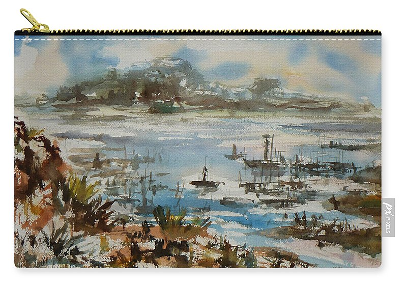 Monterrey Carry-all Pouch featuring the painting Bay Scene by Xueling Zou