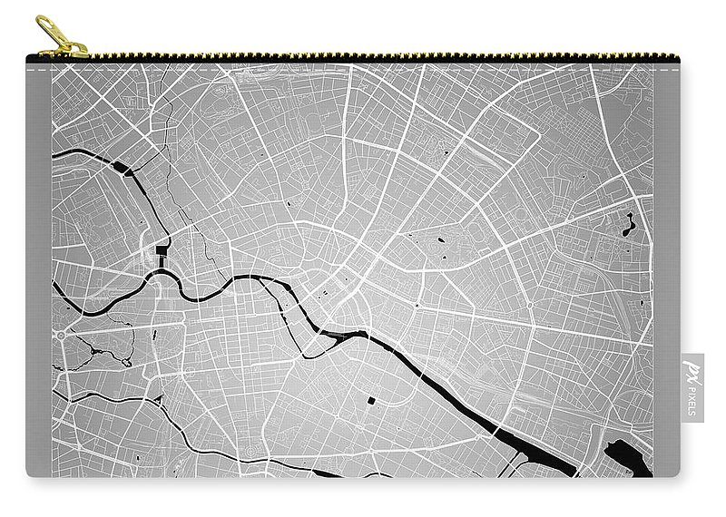 Map Of Germany To Color.Berlin Street Map Berlin Germany Road Map Art On Color Carry All Pouch