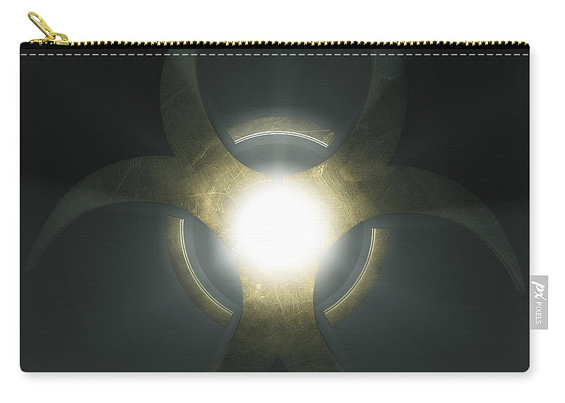 Biological Threat Carry-all Pouch featuring the photograph Biohazard Symbol by Science Picture Co