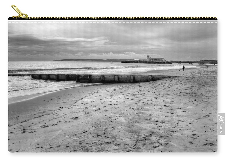 Bournemouth Pier Carry-all Pouch featuring the photograph Bournemouth Beach by Chris Day