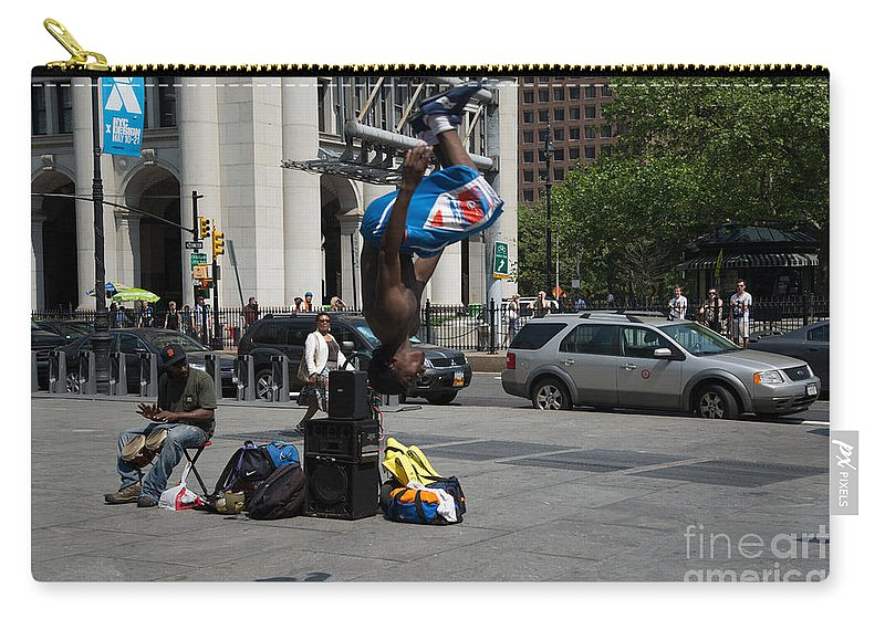 Breakdancing Carry-all Pouch featuring the digital art Breakdancers by Carol Ailles