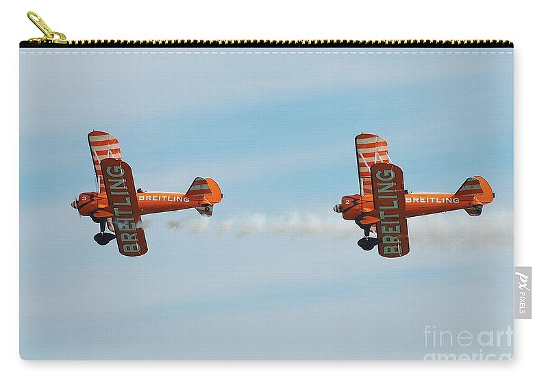 Brietling Carry-all Pouch featuring the photograph Breitling Wingwalkers Team by David Fowler