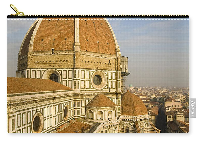 Travel Carry-all Pouch featuring the photograph Brunelleschi's Dome At The Florence Cathedral by Jason O Watson