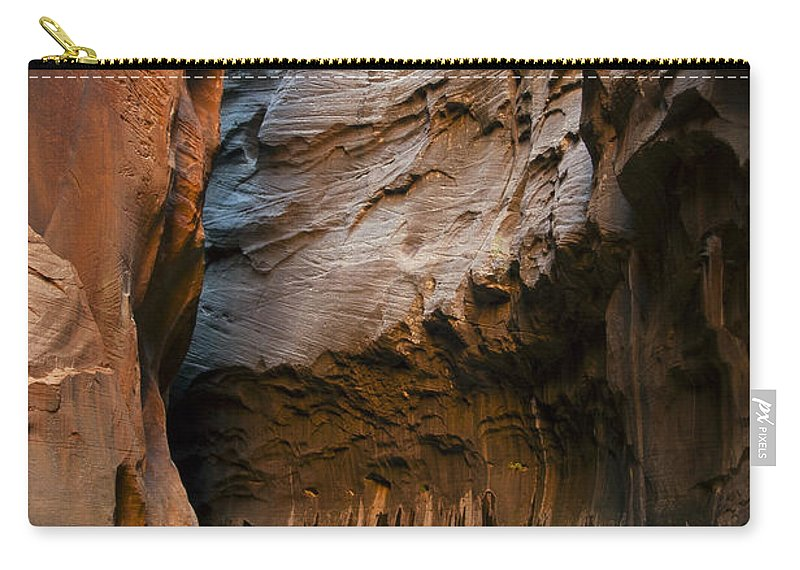 The Narrows Carry-all Pouch featuring the photograph Canyon Trail by Bob Phillips