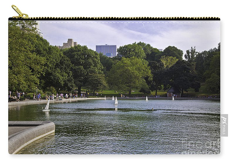 Pond Carry-all Pouch featuring the photograph Central Park Pond by Madeline Ellis