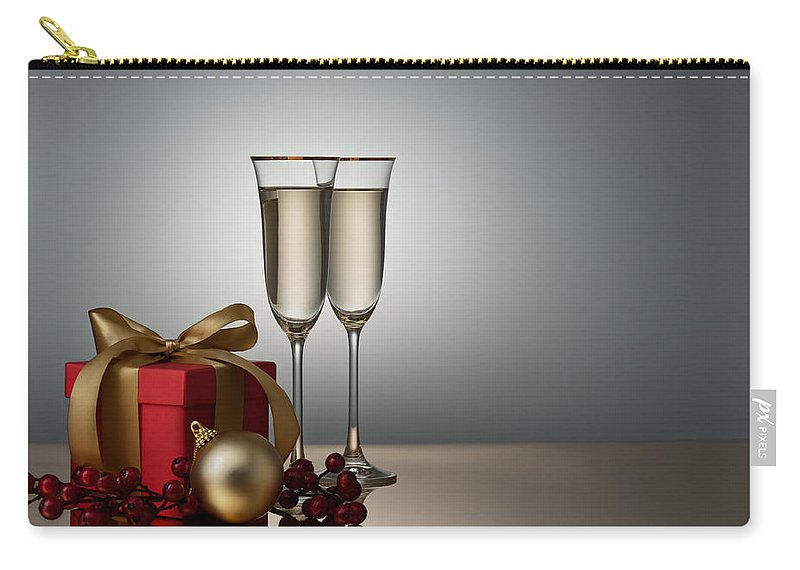 Luxury Carry-all Pouch featuring the photograph Champagne by U Schade