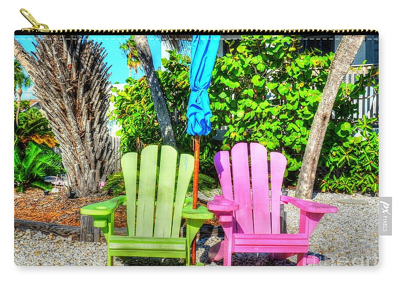 Chairs Carry-all Pouch featuring the photograph Chillin by Debbi Granruth