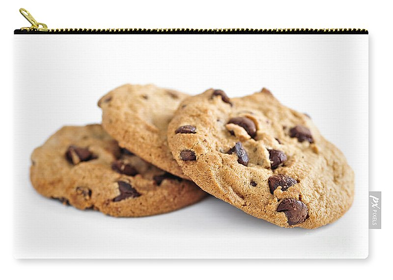 Cookies Carry-all Pouch featuring the photograph Chocolate Chip Cookies by Elena Elisseeva