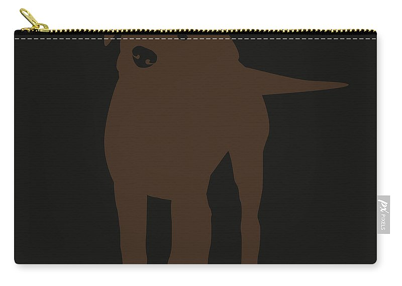Silhouette Carry-all Pouch featuring the digital art Chocolate Labrador by Elizabeth Harshman