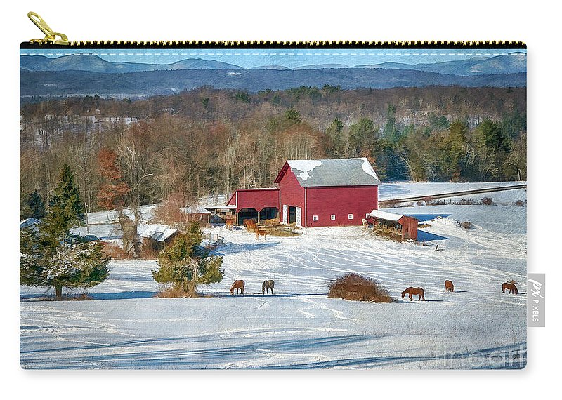 Barns Carry-all Pouch featuring the photograph Down In The Valley by Claudia Kuhn