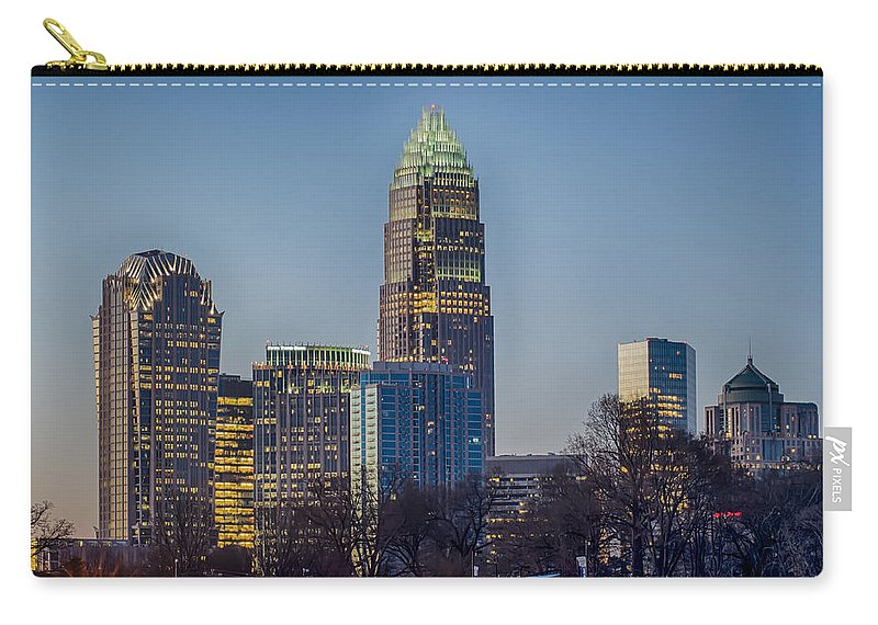 Early Carry-all Pouch featuring the photograph Early Morning In Charlotte Nc by Alex Grichenko