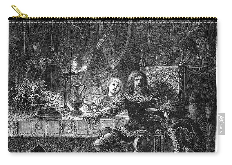 1356 Carry-all Pouch featuring the painting Edward (1330-1376) by Granger