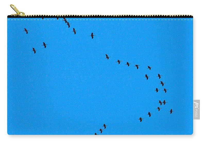 Lehto Carry-all Pouch featuring the photograph Eurasian Cranes by Jouko Lehto
