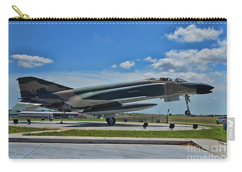 Mcdonnell Douglas F-4 Phantom Ii Carry-all Pouch featuring the photograph F-4 Phantom II by Tommy Anderson