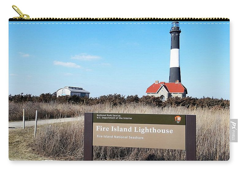 Fire Island Lighthouse Carry-all Pouch featuring the photograph Fire Island Lighthouse by Ed Weidman