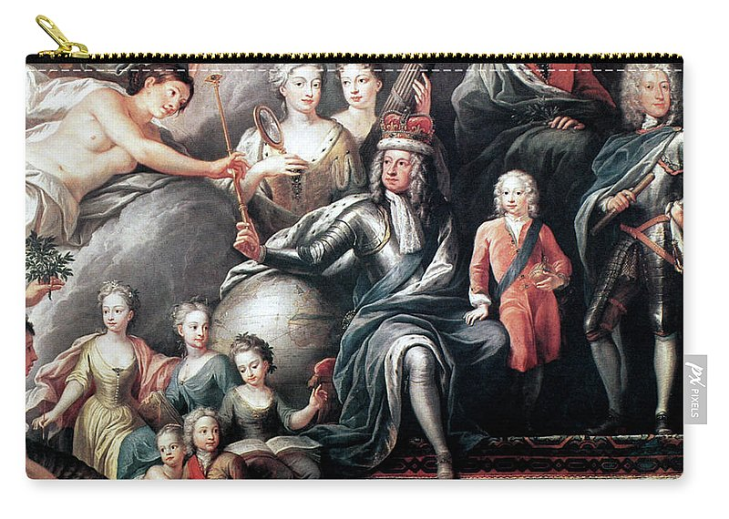 18th Century Carry-all Pouch featuring the painting George I (1660-1727) by Granger