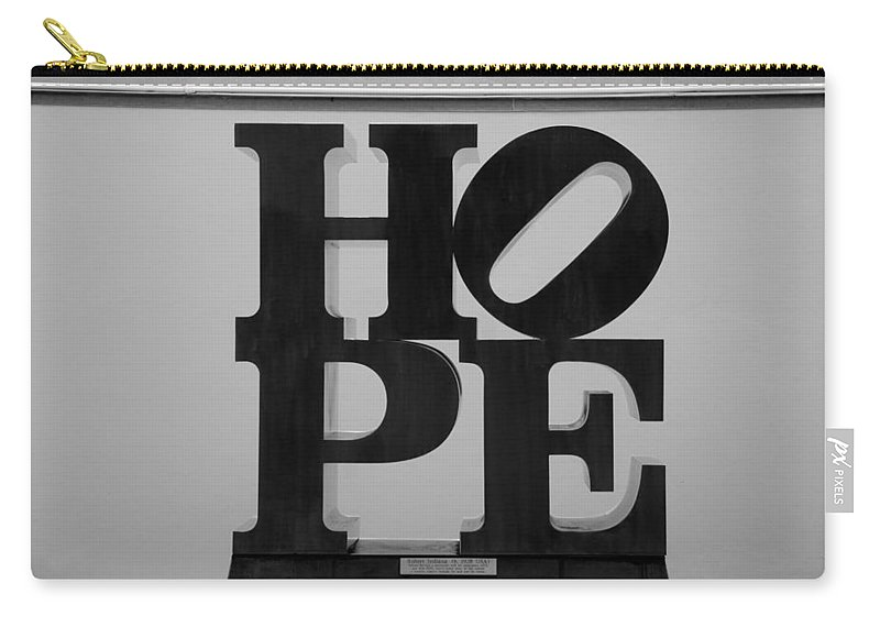 Hope Carry-all Pouch featuring the photograph Hope In Black And White by Rob Hans