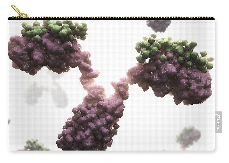 Cells Carry-all Pouch featuring the photograph Human Antibodies by Science Picture Co