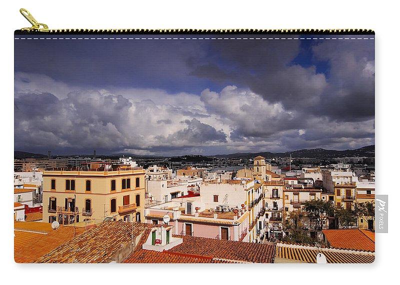 Eivissa Carry-all Pouch featuring the photograph Ibiza Town by Karol Kozlowski