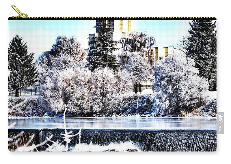Temple Carry-all Pouch featuring the photograph Idaho Falls Temple by Image Takers Photography LLC