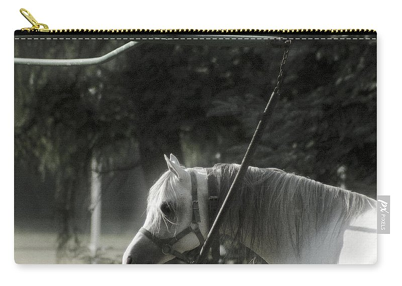 Horse Carry-all Pouch featuring the photograph In The Captivity by Angel Tarantella
