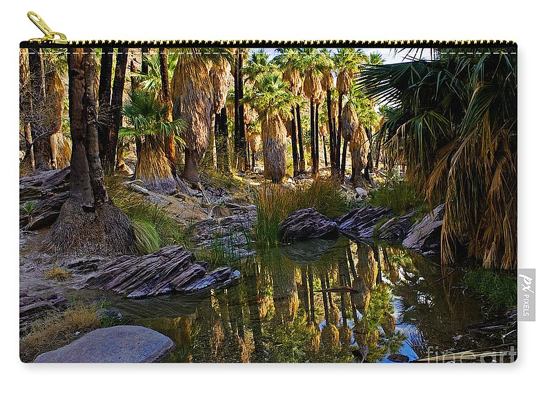 Indian Canyons Carry-all Pouch featuring the photograph Indian Canyons - California by Yefim Bam