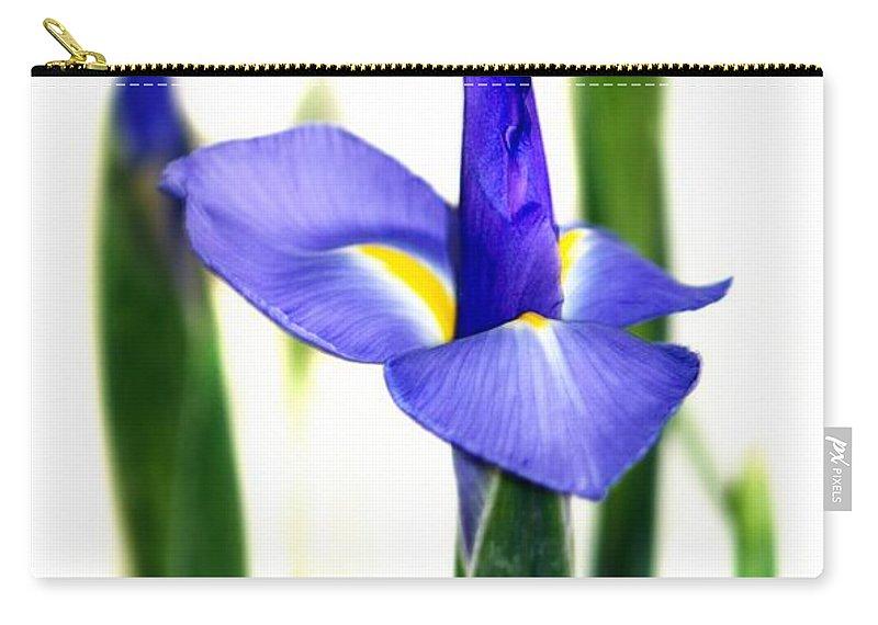 Purple Carry-all Pouch featuring the photograph Iris by Henrik Lehnerer
