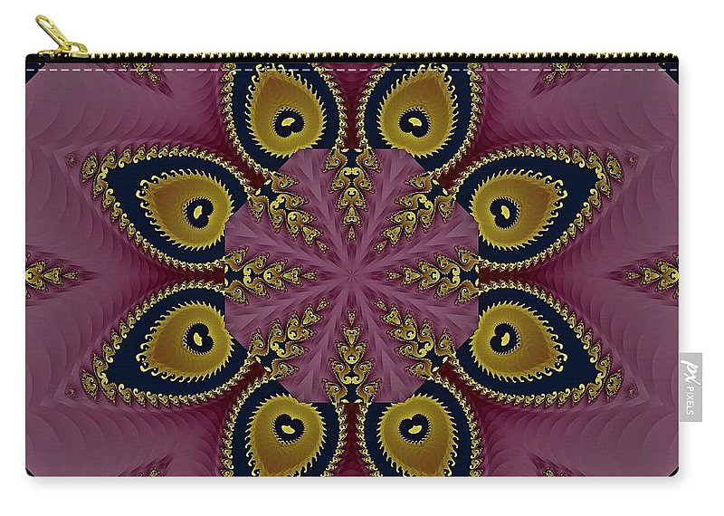 Kaleidoscope Carry-all Pouch featuring the photograph Kaleidoscope by Lena Photo Art