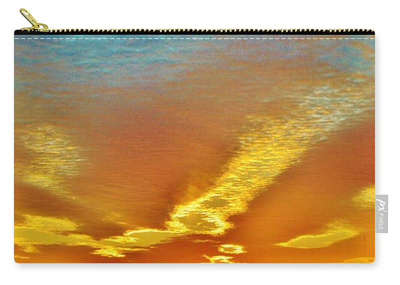 Beach Bum Pics Carry-all Pouch featuring the photograph 3 Layer Sunset by William Bartholomew
