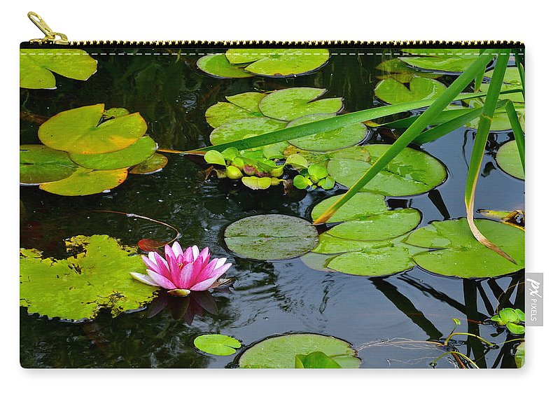 Lilly Pads Carry-all Pouch featuring the photograph Lilly Pads by Frozen in Time Fine Art Photography