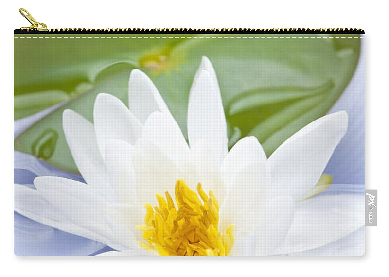 Lotus Carry-all Pouch featuring the photograph Lotus Flower by Elena Elisseeva