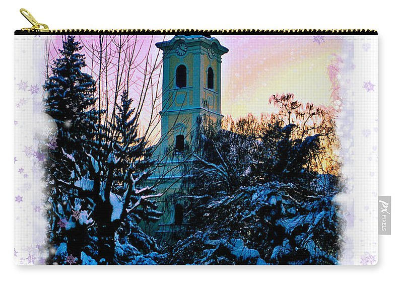 Christmas Carry-all Pouch featuring the photograph Christmas Card 22 by Nina Ficur Feenan