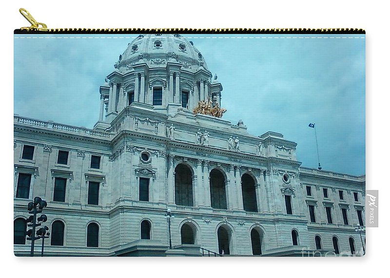 Minnesota State Capitol Carry-all Pouch featuring the photograph Minnesota State Capitol by Alfie Martin