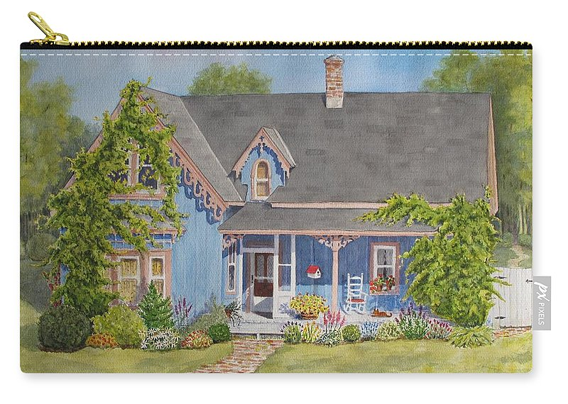 Canada Carry-all Pouch featuring the painting My Blue Heaven by Mary Ellen Mueller Legault