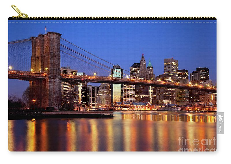 Brooklyn Carry-all Pouch featuring the photograph New York Skyline by Brian Jannsen