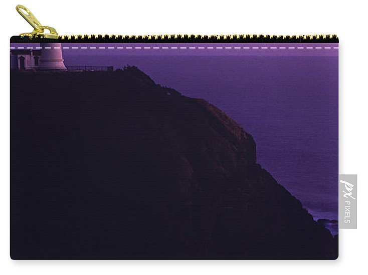 Landscape Carry-all Pouch featuring the photograph Northhead Ilwaco Lighthouse by Jim Corwin
