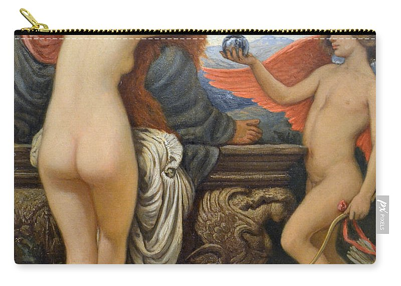 Elihu Vedder Carry-all Pouch featuring the painting Nude Art by Snowflake Obsidian