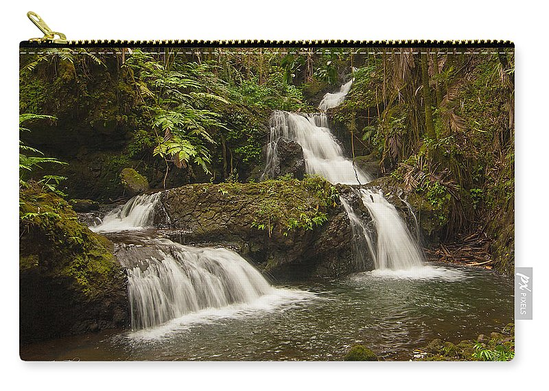 Hawaii Carry-all Pouch featuring the photograph Onomea Falls by Jim Thompson