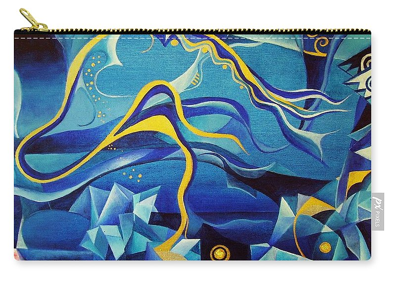 Orpheus Eurydike Greek Mth Claudio Monteverdi Music Abstract Acrylic Carry-all Pouch featuring the painting Orpheus And Eurydike by Wolfgang Schweizer