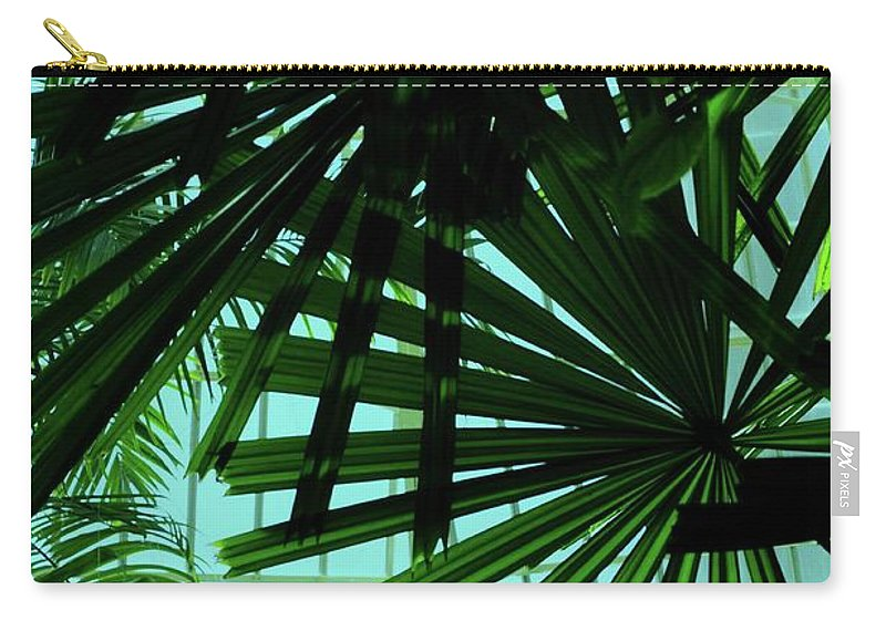 Palm Carry-all Pouch featuring the photograph Palm Trees by Kathleen Struckle
