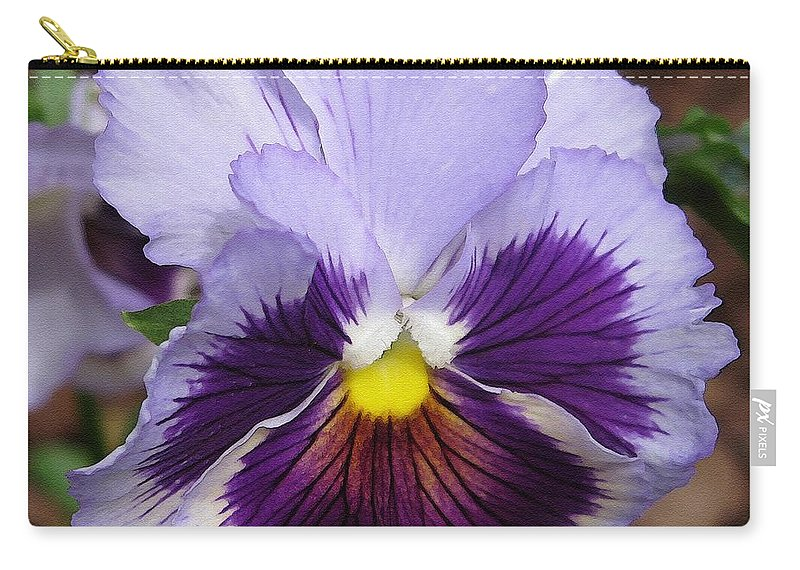 Mccombie Carry-all Pouch featuring the painting Pansy From The Chalon Supreme Primed Mix by J McCombie