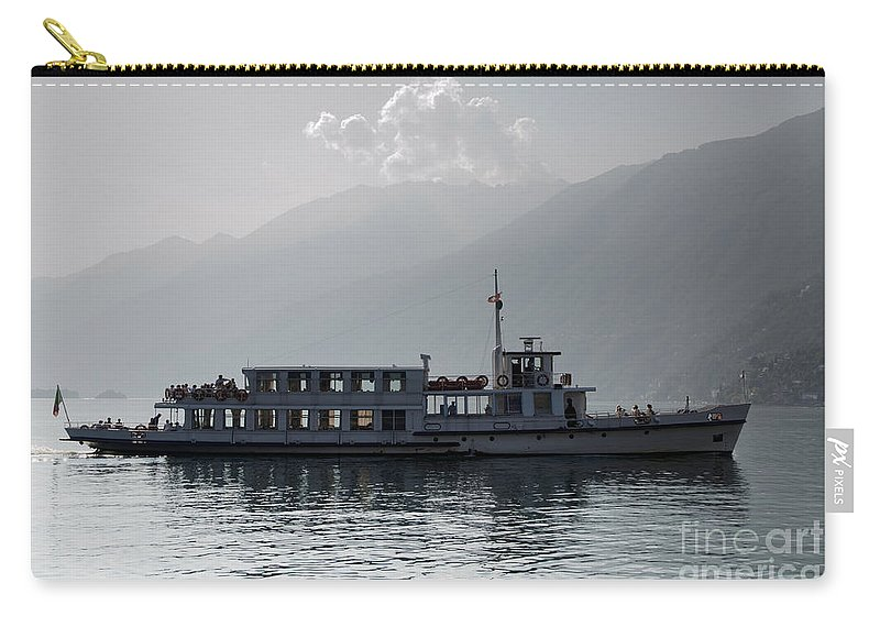 Seascape Carry-all Pouch featuring the photograph Passenger Ship On An Alpine Lake by Mats Silvan