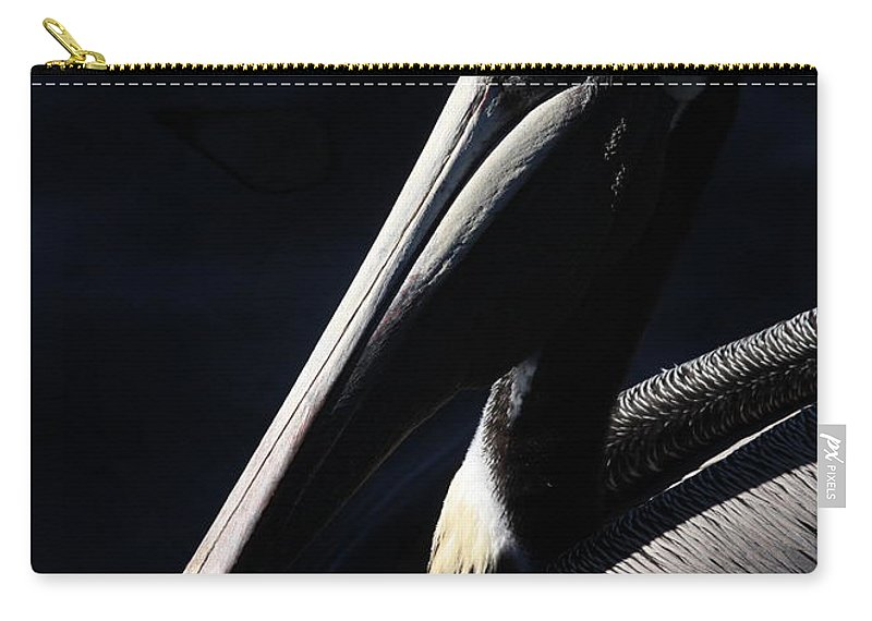 Pelican Carry-all Pouch featuring the photograph Pelican Profile by Carol Groenen